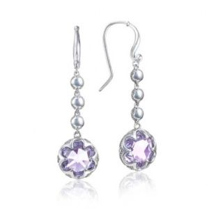Auth. Tacori Sonoma Skies Amythest Drop Earrings